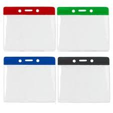 Plastic Badge Wallets with colour top