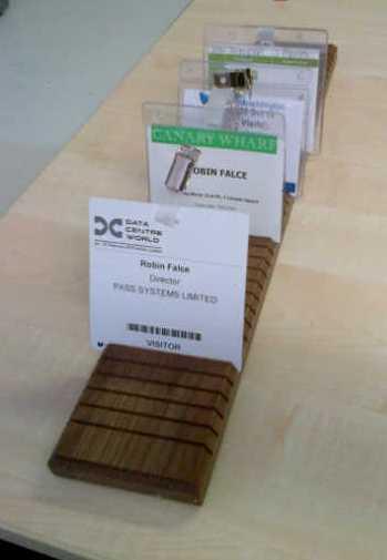 Badge Display Tray - Wood