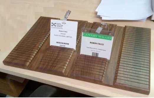 Badge Display Tray - Large Wood