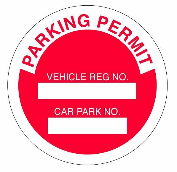 Car parking permit badge card holder accessories car parking permit maxwellsz