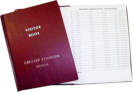 WHSmith Black Luxury Visitors Book - Stationery | WHSmith
